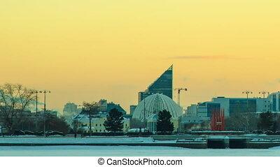 Central embankment. Ekaterinburg. R