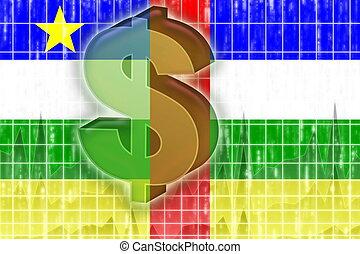 central, finanzas, bandera, república, africano, economía