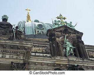Berliner Dom - central fragment of famous Berliner Dom...