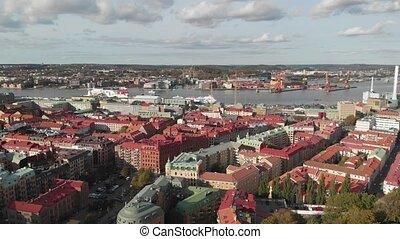 Central Gothenburg Reveal Green City Park, Aerial
