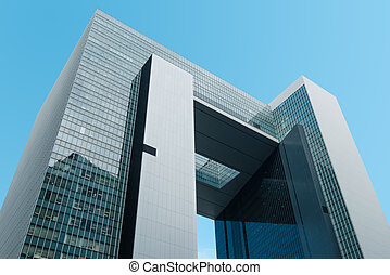 Hongkong, Hong Kong - November, 2019:  Central Government Complex of Hong Kong in Tamar which houses the headquarters government and Legislative Council