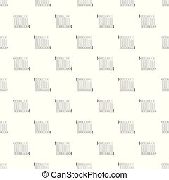 Central heater pattern seamless vector