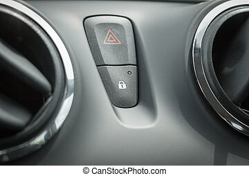 central locking switch and warning light