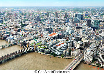 Central London buildings viewed from above