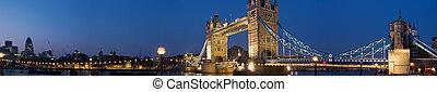 central-london, -, twilight., タワー, xxl, 橋