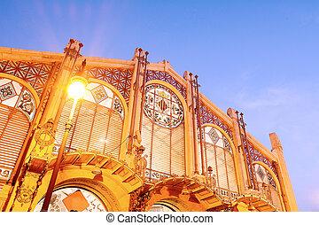 Central market in Valencia, Spain.