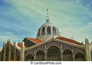 Central Market - Modernist architecture in Valencia, Spain.