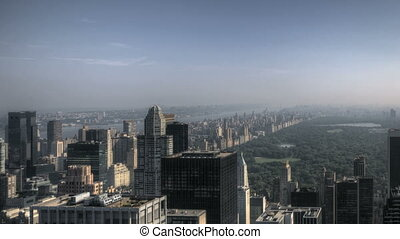 HDR Timelapse of some Clouds over New York City Skyline and Central Park