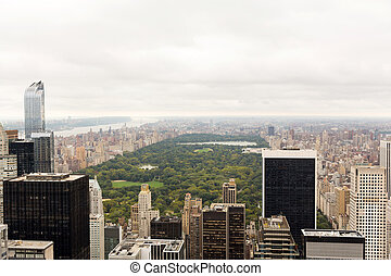 central park aerial view New York