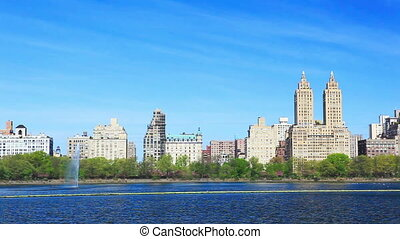 Central Park and Manhattan panorama - Central Park with...