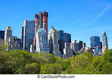 Central Park and Manhattan