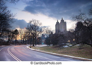 Central Park at Dusk, New York City - Central Park at Dusk...
