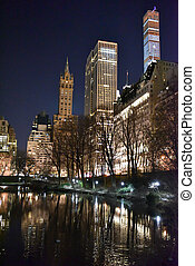 Central Park at Night, New York