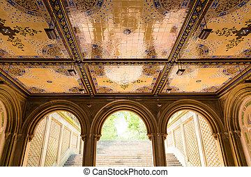 Central Park Bethesda Terrace underpass arcades