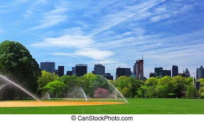 Central Park with Manhattan skyline, New York City