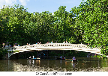 Central Park Lake in Manhattan, New York