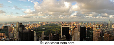 Central Park - Manhattan - Aerial view of Central Park and...