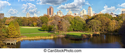 Central Park panorama in autumn