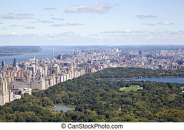 Central Park - The view of Central Park and east-north side...