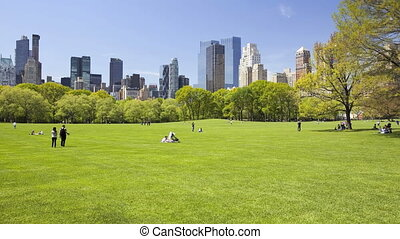 Sheep Meadow in Central Park, New York City, time lapse