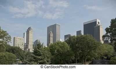 Central Park with Skyline - HDR Timelapse of Central park...