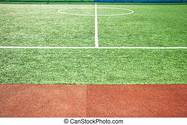Central part of a football field