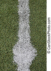 Central part of a football (soccer) field.