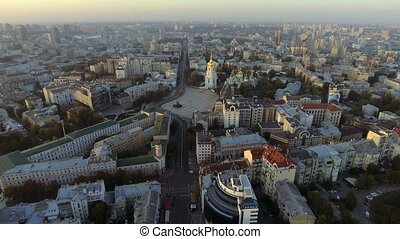 Central part of the Ukrainian capital with many historical...
