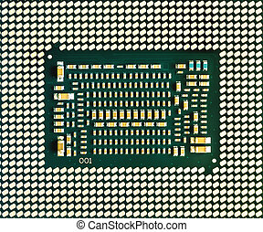 Central processing unit chip. Background of CPU