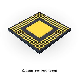 Central processing unit CPU concept by Back board