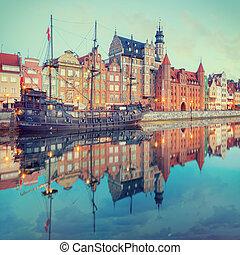 central, quay, de, gdansk, polônia