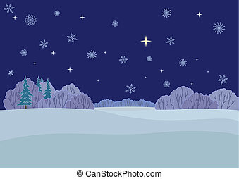 Central Russian landscape, winter night(117).jpg - Winter...