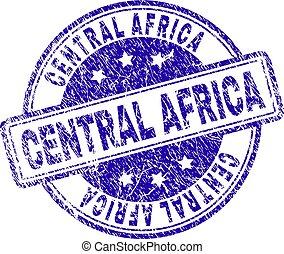 central, selo, textured, áfrica, selo, grunge