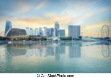 central Singapore blurred background