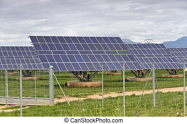 central solar - Industrial photovoltaic installation ,...