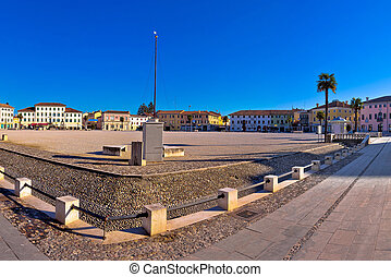 Central square in town of Palmanova panoramic view, Friuli...