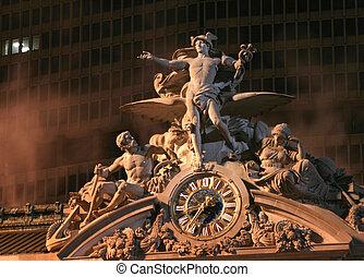 central, statue, grandiose