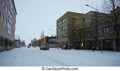 Central street of Joensuu, Finland