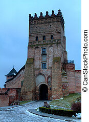 tower of the Old castle in town Lutsk
