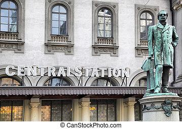 Central train station in Stockholm, Sweden