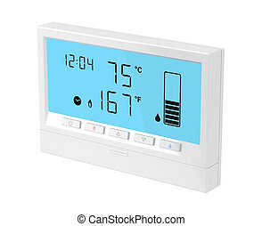 Central water heater control panel