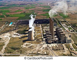 centrale électrique, dans, opération