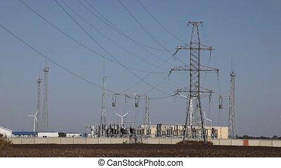 centrale électrique, lignes