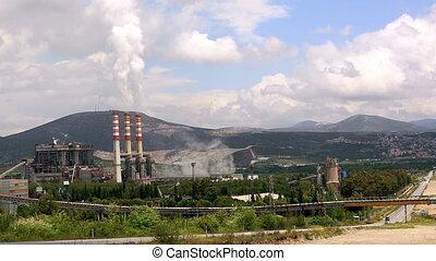 centrale électrique, pays, défaillance, autoroute, temps