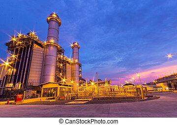centrale électrique soir