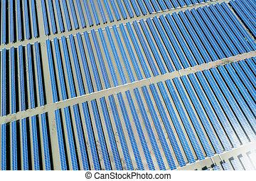 centrale électrique solaire, vue aérienne