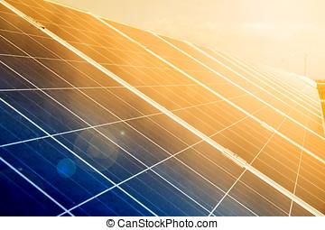 centrale électrique, utilisation, renouvelable, solaire, energy.