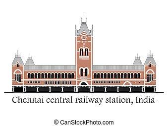 centrale, stazione treno, chennai