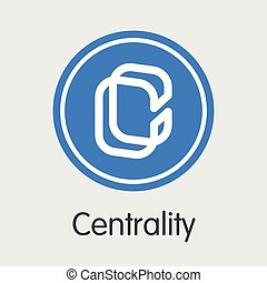 Centrality Cryptographic Currency - Vector Trading Sign. - ...