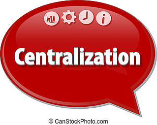 Centralization Business term speech bubble illustration